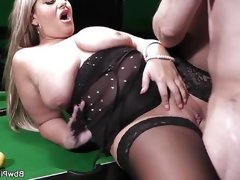 Bbw gets pussy licked and fucked on..