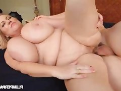 Big tits blonde bbw gets banged