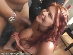 Hubby love watching her fat wife fuck..