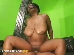 Thick black slut bnaged hard