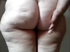 Fat brazilian granny show your ass and..