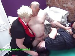 Grannies fucked on the pool table