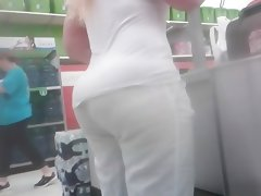 Pawg milf in white