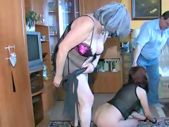 Brunette gets humiliated and spanked..