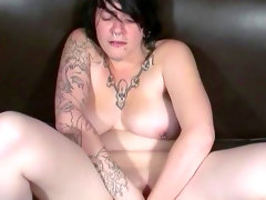 Chubby babe with tattoos betty is..