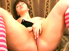 Luba demonstrates her naked chubby body