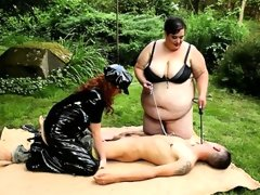 Extremely huge bbw dommies in femdom..